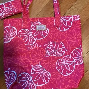 Lily Pulitzer Tote Bag/Small Pouch! New!! $19